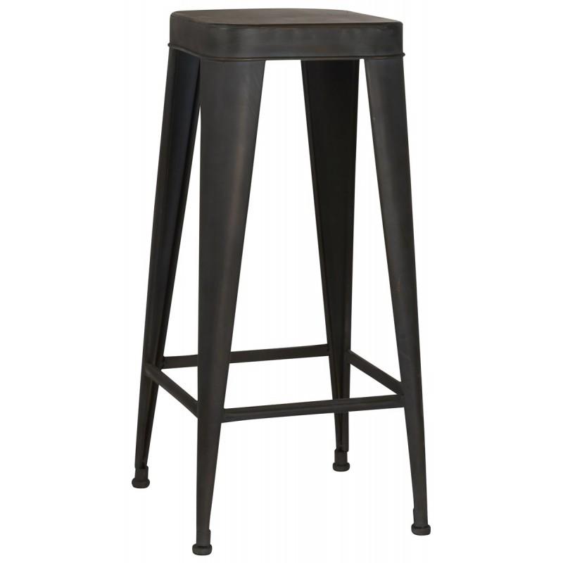 Skammel høj / barstol i metal - ib laursen