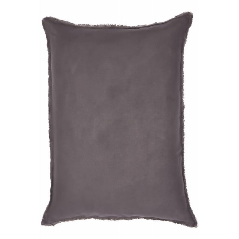Pudebetræk i hør koksgrå - cest bon 50x70