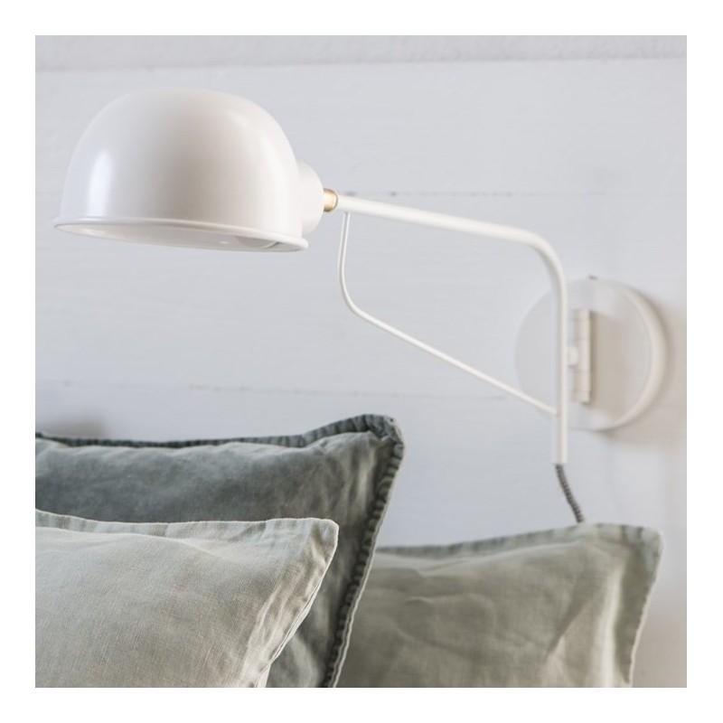 Væglampe Rund - V u00e6glampe hvid Ib Laursen Rund sk u00e6rm KUN Kr 425