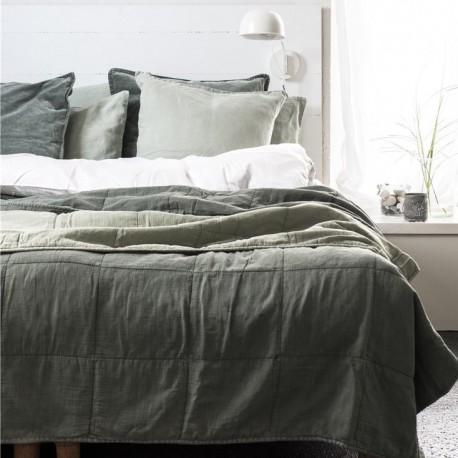 sengetæppe limegrøn