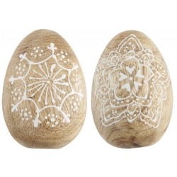 Æg 2 ass m/hvidt mønster mellem mango