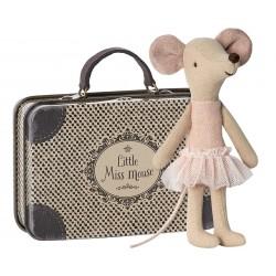 Mus Storesøster - Maileg m/ Miss Mouse kuffert