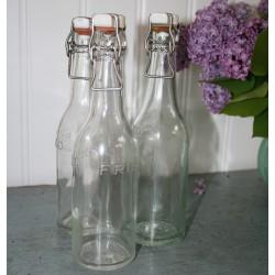 Sodavands flaske m/ patentlåg, gammel og antik