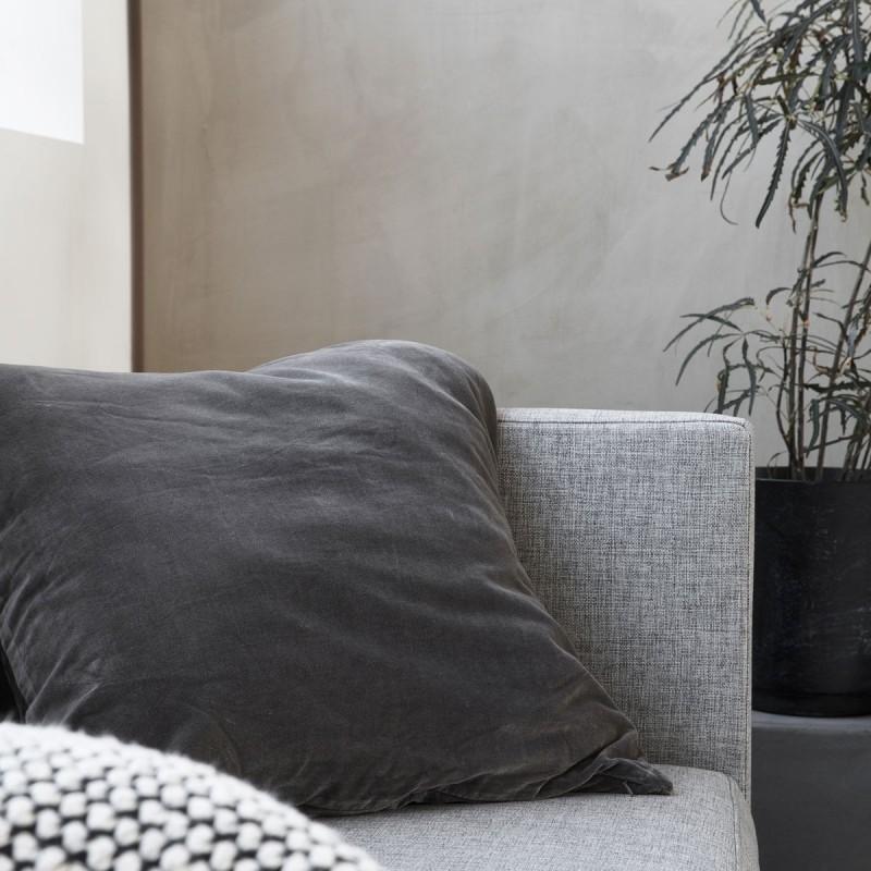 Pudebetræk - house doctor - velour mørkegrå 60x60