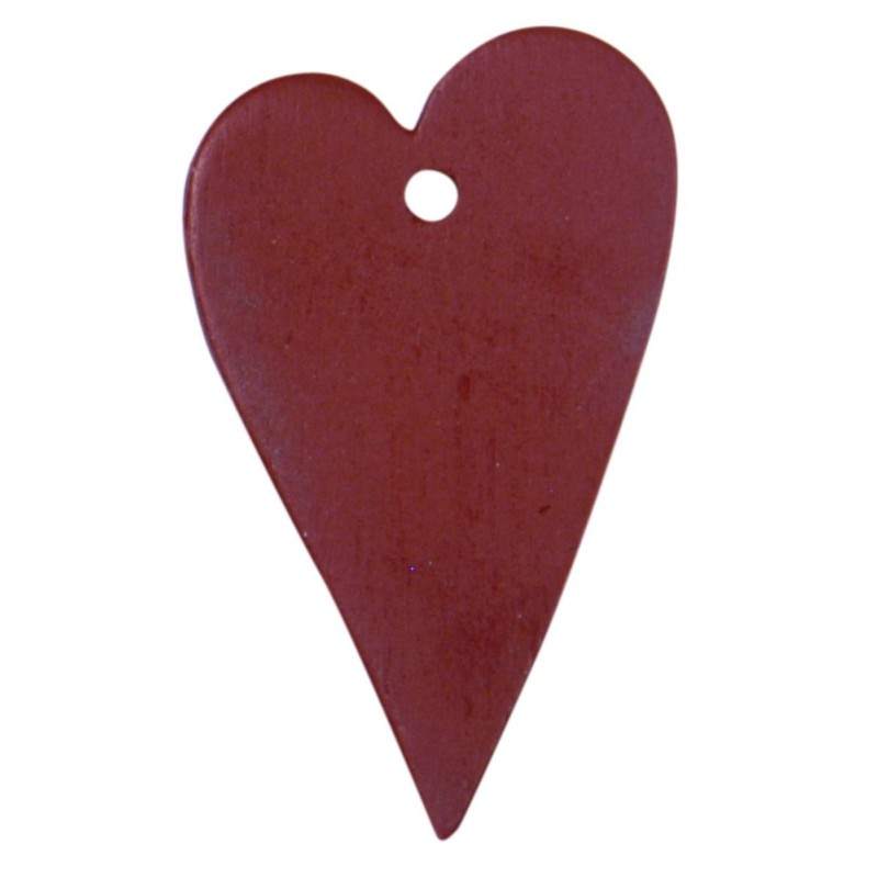 Træhjerte rød - ib laursen - ps. m/ 10 stk.