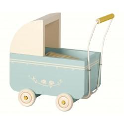 Dukkevogn - Maileg - Lyseblå mini