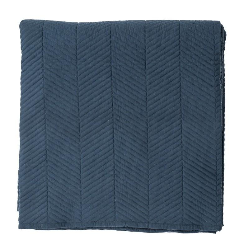 sengetæppe mørkeblå