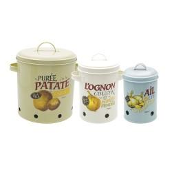 Opbevaringsdåser til kartofler/løg/hvidløg