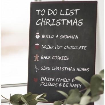 "Metalskilt ""To Do List Christmas"" - Ib Laursen"