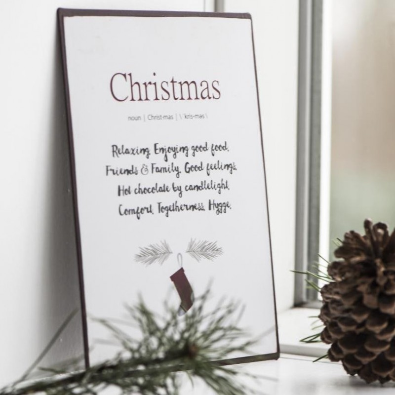 "Metalskilt ""Christmas"" - Ib laursen"