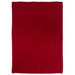 Håndklæde, rød - strikket - Ib Laursen