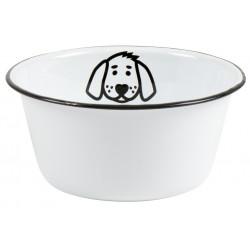 Hundeskål i hvid emalje - Ib Laursen