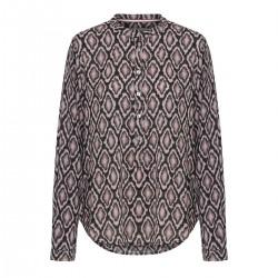 """Skjorte m/ blå og rosa print - Costamani """"Lexis mix"""""""