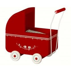 Dukkevogn - Maileg - Rød mini