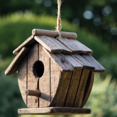 Fuglehus rustik stil - firkantet - Aafod