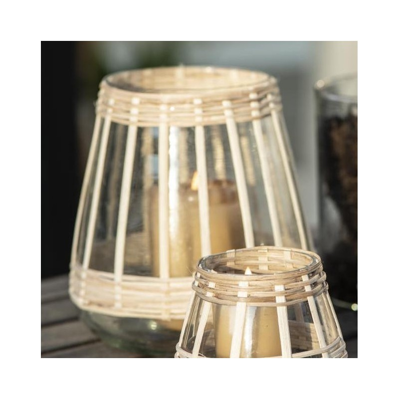 Lygte m/ bambusflet, Stor - Ib Laursen