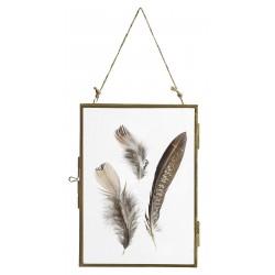 Fotoramme - guld, Nordal, Folderamme, glas på begge sider