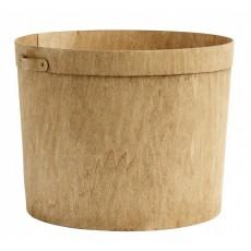 Stor Træ Kurv Rund - Nordal
