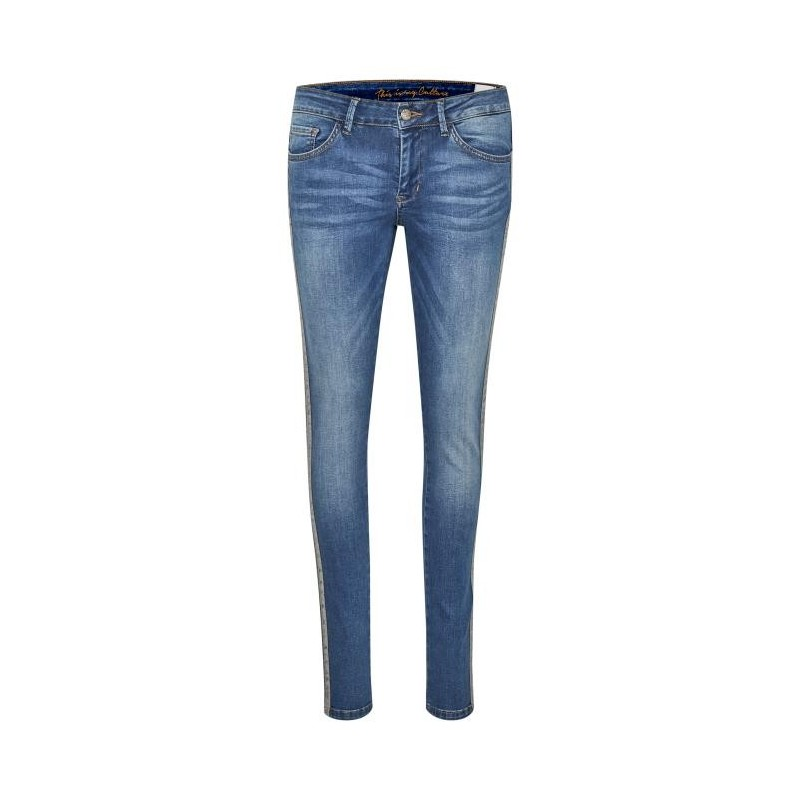 """Jeans m/ stribe - Culture """"Jeannina fit"""""""