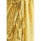 Kjole m/ bindebånd - gul m/ gråt mønster - Culture