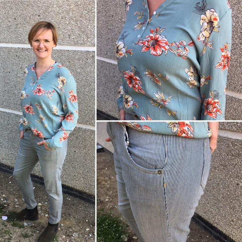 "Skjorte / Bluse ""Alexia"" m/ Blomster mønster - Costamani"