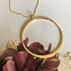 Halskæde - Friihof + Siig - 50 cm Ring - Guld