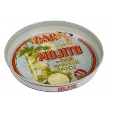 "Rund metalbakke ""Mojito"" - Natives"
