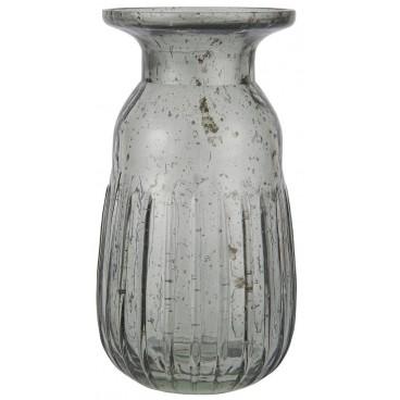 Hyacintvase i mundblæst glas Grå - Ib Laursen