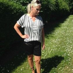 Skjorte / Bluse - Culture m/ gråt mønster