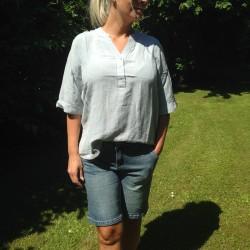Skjorte / Bluse - Culture i hør - Støvet lys Blå