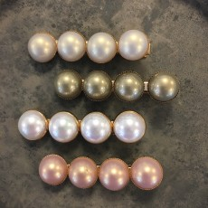 Hårspænde - Friihof + Siig m/ 4 enkelte Perler