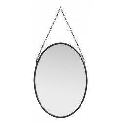 Downtown mirror, oval, black