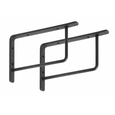 Brackets for shelf, L, s/2, black iron