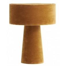 MUSHROOM table lamp, mustard velvet