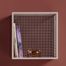 WIRE box for wall, light pink, S