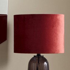 Lamp shade, velvet, orange red