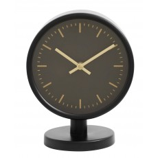 ONYX, table clock, black frame w/gold