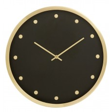 CARAT, wall clock, golden frame, dots