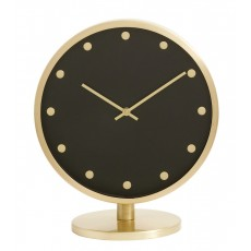 CARAT, table clock, golden frame, dots