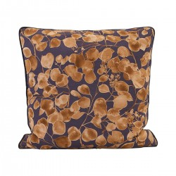 HD, 6C, Pillowcase, Leaf, Purple/Goldl: 50 cm, w: