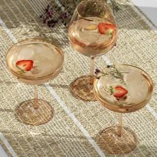 Goldie cocktail glass w. gold rim