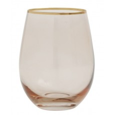 Goldie drinking glass w. gold rim