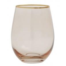 Goldie drinking glass w. gold rim