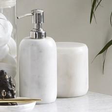 Sæbedispenser i hvid marmor - Nordal