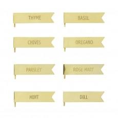 Skilte til Krydderurter, Guld, Metal