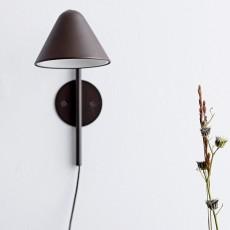 Væglampe, Brun, Metal