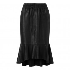 Nederdel sort læder - Depeche