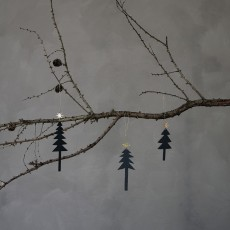 HD, 12C, Ornaments, Tree w. star, Set of 3 sizes,