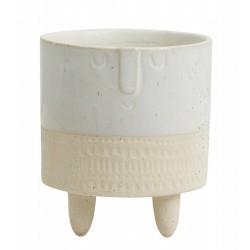 "Vase creme & hvid ""Face"" - Nordal"
