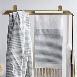 Håndklæde Rack, Guld, Metal